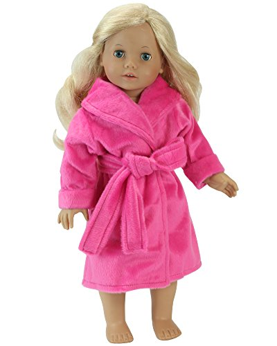 Marriott Bath - Sophia's 18 Inch Doll Robe in Hot Pink Made, Fits 18 Inch American Girl Dolls & More! Soft Hot Pink Robe/Belt