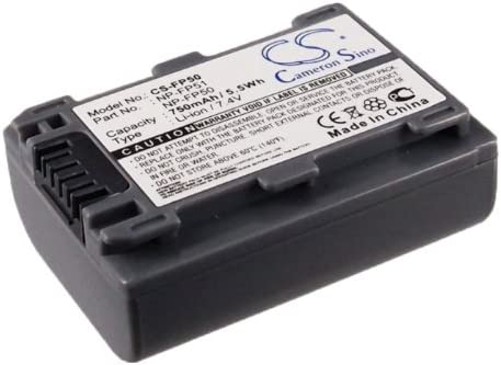 Battery Replacement for Sony DCR-DVD653 DCR-DVD653E DCR-DVD703 DCR-DVD703E DCR-DVD705 DCR-DVD705E DCR-DVD755 DCR-DVD755E DCR-DVD803 DCR-DVD803E DCR-DVD805 NP-FP30