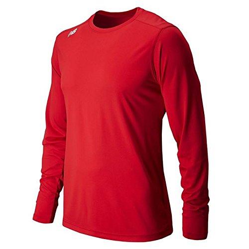 Rouge Team New Balance Homme NB à Manches Longues évacuant T-Shirt Technique pour Homme moyen