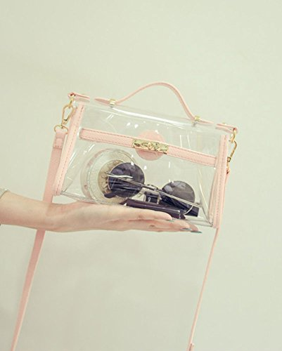 Bolsa De Mensajero De Totes Bolsos Bolera Transparente De Bandolera De Baguette Bolso Para Mujer Rucio Pink