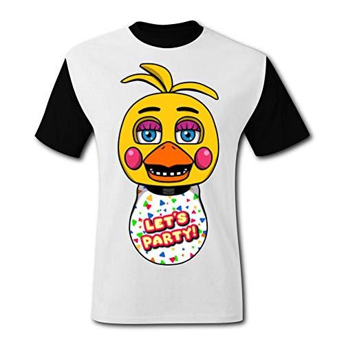 ETJIJCKDI Mens Duck Five Nights at Freddy's T-Shirt Short Sleeve Tee Shirts XXL Black