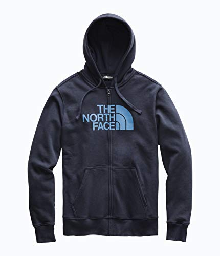 The North Face Men's Half Dome Full Zip Hoodie Urban Navy/Storm Blue Large