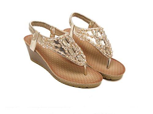 planas Sandalias campos y casuales zapatos los Playa Ruanlei playaLa de Mujer perforación en de de Golden Sandalias laderas pozos Sandalias chanclas con Para Sandalias Sandalias Zapatos y 5q11vA07