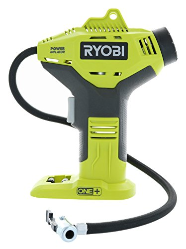 Ryobi P737 18V ONE+ Portable Cordless Power Inflator for Tires, Battery Not Included - High Pressure Piston Pumps