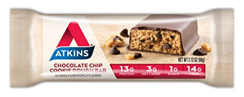 Atkins Protein-Rich Meal Bar, Chocolate Chip Cookie Dough, 5 Count (Pack of 6) by Atkins (Image #1)