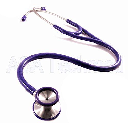 Professional Cardiology Stethoscope Black, Blue, Purple, Stainless Steel (Purple)