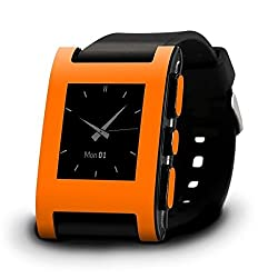 New And Geniune Pebble Smart Watch / SmartWatch for iPhone and Android (Orange)