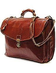 Cenzo 4050 Italian Leather Briefcase Attache