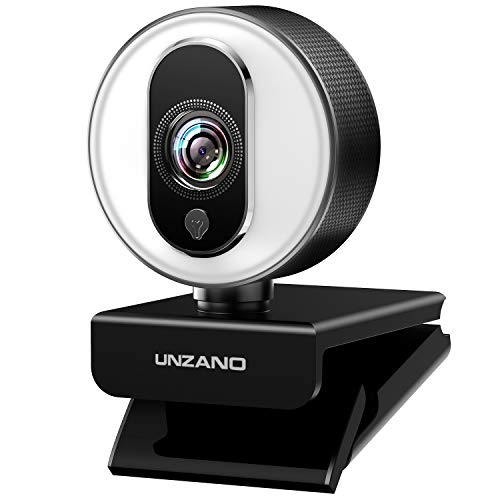 HD Webcam 1080P for Streaming With Ring Light,  External Computer Web Camera With Dual Microphone,  Autofocus Camera for PC Laptop Desktop Mac Video Calling Recording Skype Xbox One YouTube OBS (Web Camera 1080)