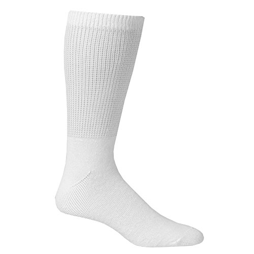 Unisex Buster Brown Wide Calf Diabetic Socks - White - Medium - 3 ()
