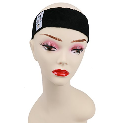 - GEX New Style Beauty Flexible Velvet Wig Grip Scarf Head Hair Band Wig Band Adjustable Fastern (New Black)