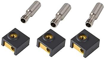 Pack of 5 Creality Original 3D Printer Aluminum Heater Block for MK7 MK8 Extruder Creality CR-10//CR-10S S4 S5,Ender 3//Ender 3 Pro Series 3D Printer
