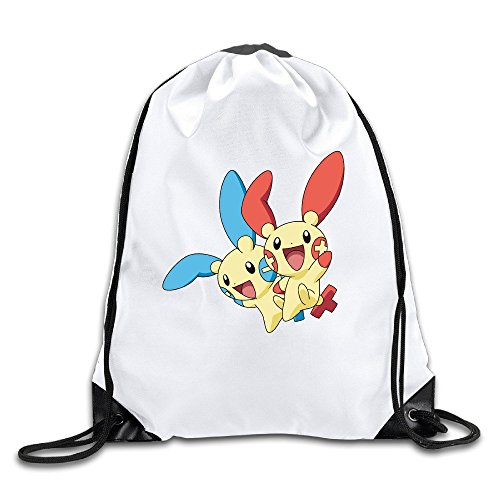 Happy Jump Lightweight Drawstring Bags Backpack White Size One Size
