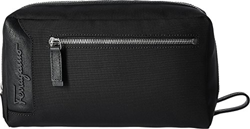Salvatore Ferragamo Men's Capsule Now Dopp Kit - 240362 Black Cosmetic Bag by Salvatore Ferragamo