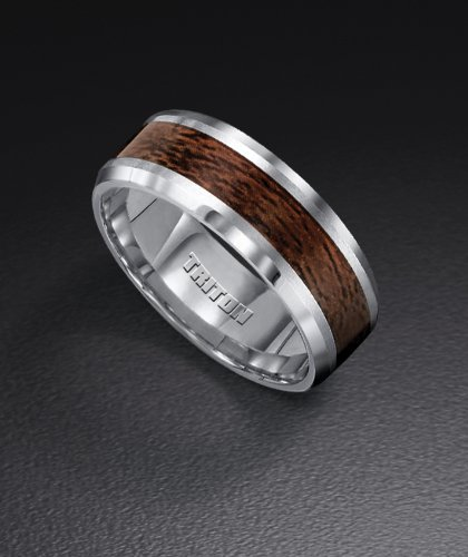 Tungsten Carbide TC850 Wedding Ring with Genuine Wood Inlay 11-2799C by Security Jewelers