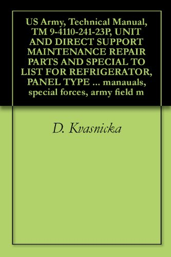 (US Army, Technical Manual, TM 9-4110-241-23P, UNIT AND DIRECT SUPPORT MAINTENANCE REPAIR PARTS AND SPECIAL TO LIST FOR REFRIGERATOR, PANEL TYPE PREFABRICATED ... manauals, special forces, army field m)