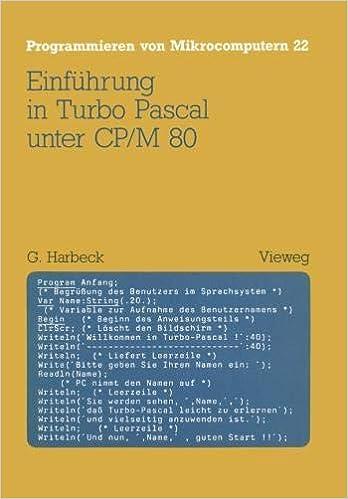 Einführung in Turbo Pascal unter CP/M 80 Programmieren von Mikrocomputern: Amazon.es: Gerd Harbeck: Libros en idiomas extranjeros