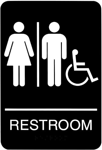 Which is the best signage bathroom?