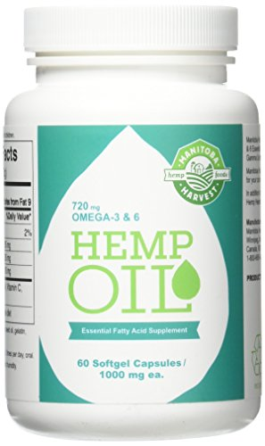 Hemp Seed Oil, 1000Mg Ea, 60 Sgel Pack Of 4 -