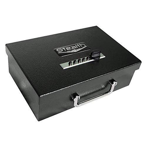 Stealth Portable Handgun Safe PS1208EZ Pistol Box + Free 13.5