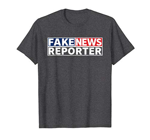 Mens FAKE NEWS REPORTER Halloween Costume Shirt -