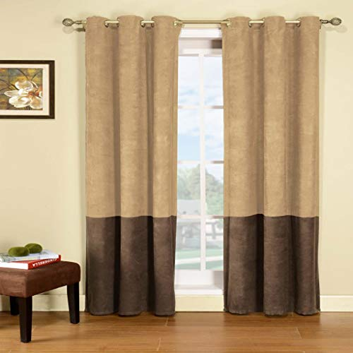 Duck River Textiles - Welwyn Floral Leaf Print Semi-Sheer Grommet Top Window Curtains for Living Room & Bedroom - Assorted Colors - Set of 2 Panels (38 X 84 Inch - White)