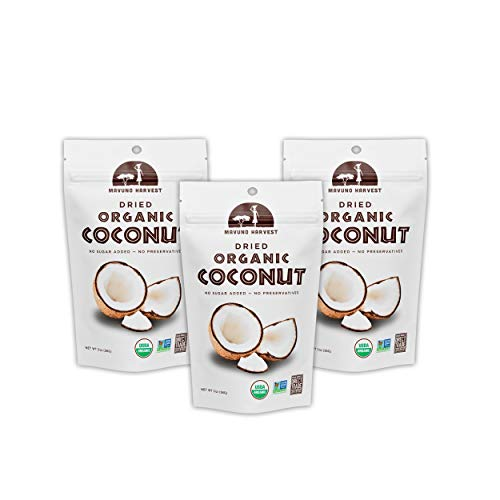 - Mavuno Harvest Direct Trade Organic Dried Fruit, Coconut, 3 Count