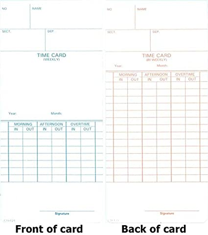 compumatic ctr121 time cards 1000 time cards weekly bi weekly pay periods - Bi Weekly Time Cards