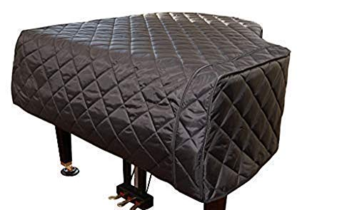 Custom Made Piano Covers/Baby Grand Piano Cover - Black Quilted | Grand Piano Cover - Custom Made | Bundle with L&L Design Piano-Table Topper (2 Items) (5'0