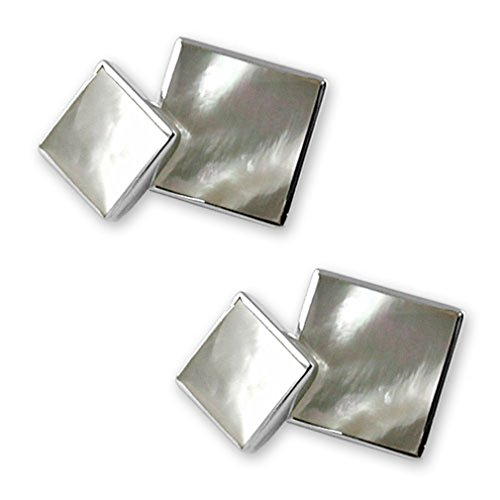 Set pearl mother double Sterling of Studs sided Gift silver Shirt Dress Cufflinks Bt7p7WPn