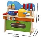 Lewo Children Wooden Play Kitchen Set Pretend