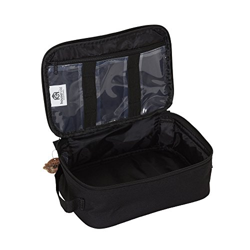 412PSu%2Bz41L - Household Essentials 6706 Grooming Toiletry Travel Bag Organizer for Men and Women | Black