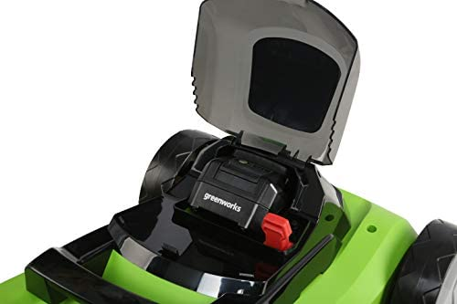 """412PTq9 LoL. AC  - Greenworks 24V 13"""" Lawn Mower, 4Ah USB Battery and Charger Included MO24B410"""