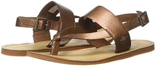 Compensées Thongcopper Sandales Ankle Marron Carolista Timberland Metallic Metallic copper Femme 1ES7qXwXx
