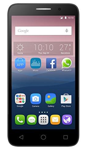 Alcatel 5015D One Touch POP3 Dual SIM 12,7 cm (5 Zoll) Smartphone mit Quadcore Prozessor, 8GB Speicher silber