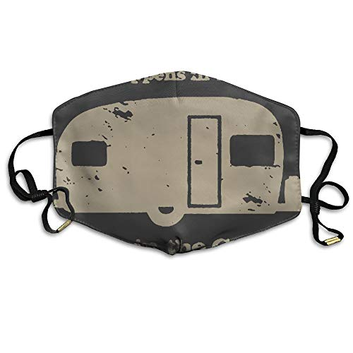What Happens In The Camper Unisex Facemask Earloop Dust Facemask Cycling Reusable Mask