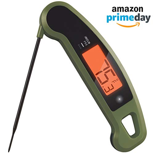 Lavatools Javelin PRO Duo Limited Edition 001 Ambidextrous Backlit Instant Read Digital Meat Thermometer (Olive -