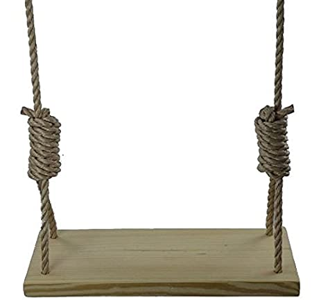 Amazon.com : 22 Inch Southern Pine 4 Hole Tree Swing - Wooden ...