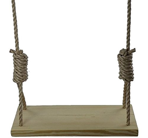 22 Inch Southern Pine 4 Hole Tree Swing - Wooden Swings Rope Kids Adult Outdoor Indoor Patio Pine.