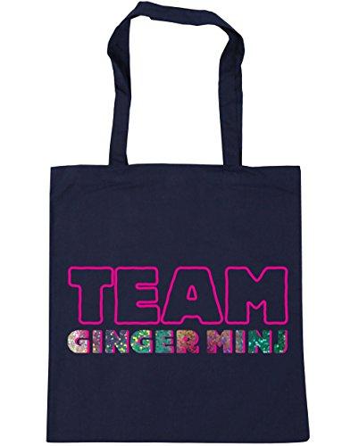 HippoWarehouse equipo Ginger minj Tote Compras Bolsa de playa 42cm x38cm, 10litros azul marino