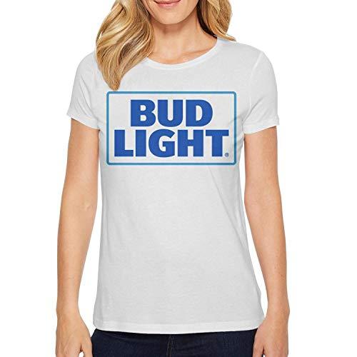 Anheuser Busch InBev Buld Light Womens Shirt Slim-Fit Tops Colorful Active Design Short Sleeve Tee ()