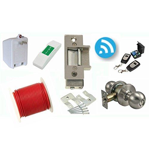 Electric Strike Door Lock And Wireless Remote Kit Lee 14c