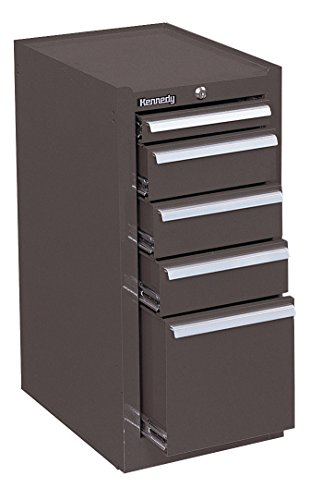 "Kennedy Manufacturing 185XB 14"" 5-Drawer Industrial Side Cabinet, Tan Brown Wrinkle"