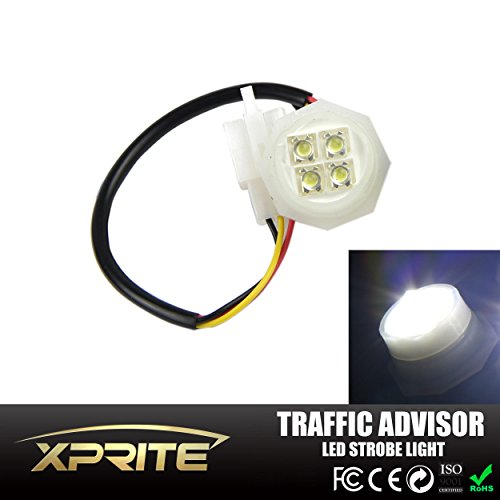 Xprite 1 White LED Hide Away Strobe Tube for 80w / 120w / 160w Kits Headlight Replacement Bulbs