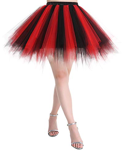 MuaDress Women's 1950s Multi Layer Retro Petticoat Tulle Tutu Party Dance Skirt