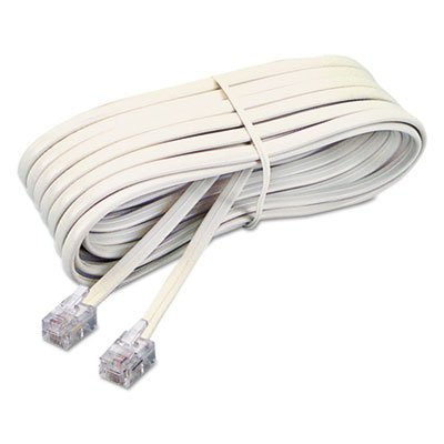 Telephone Extension Cord, Plug/Plug, 7 ft., Ivory, Sold as 2 Each