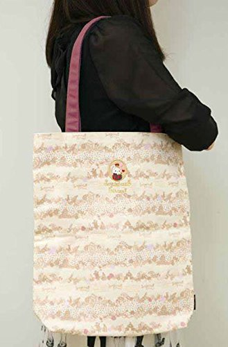 Linda bolsa con asas lona color natural Sentimental Circus de San-X Japón