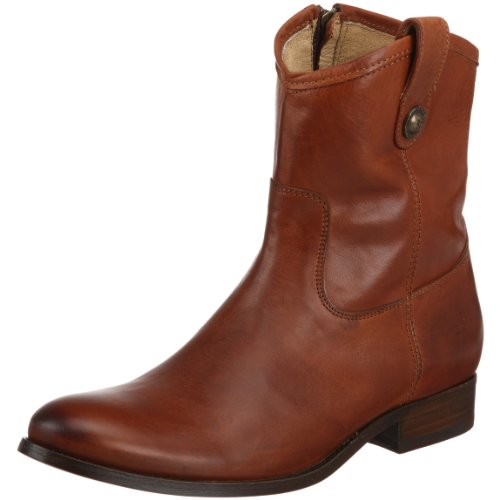 Frye Mujeres Melissa Button Short Botines Cognac Soft Vintage Leather-77897