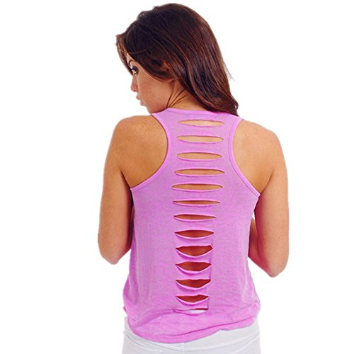 Blanc Ladies Hrph Bodycon Women shirt Fashion Sleeveless Back Vest Sexy Tank T Top New Solid Tops Hollow waxqEraf