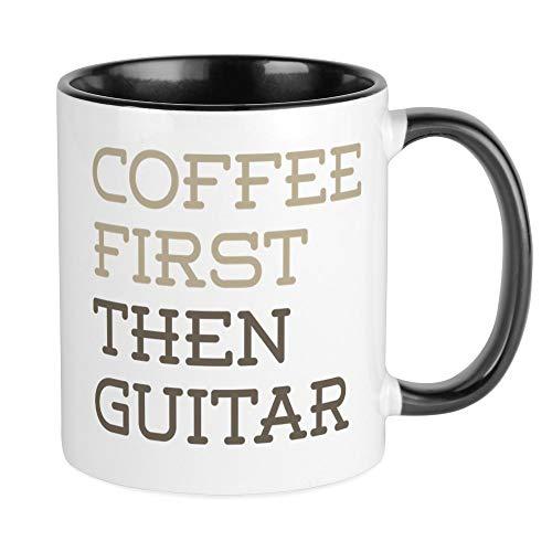 CafePress Coffee Then Guitar Mugs Unique Coffee Mug, Coffee Cup ()